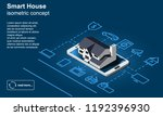 smart home vector icon.... | Shutterstock .eps vector #1192396930