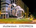 ponferrada  spain. circa... | Shutterstock . vector #1192398226
