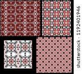 hungarian pixel pattern set for ... | Shutterstock .eps vector #1192401946
