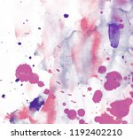 abstract colorful watercolor on ... | Shutterstock . vector #1192402210