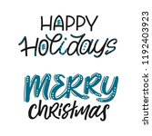 happy holidays and merry... | Shutterstock .eps vector #1192403923
