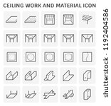 ceiling work and material icon... | Shutterstock .eps vector #1192404586