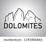 italian dolomites logo vector   ... | Shutterstock .eps vector #1192406866