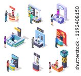 isometric expo stands.... | Shutterstock .eps vector #1192408150