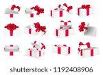 gift boxes. white open present... | Shutterstock .eps vector #1192408906