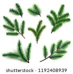 fir branches. christmas tree... | Shutterstock .eps vector #1192408939