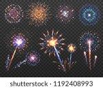 fireworks. holiday firework... | Shutterstock .eps vector #1192408993