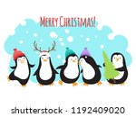 christmas winter holidays... | Shutterstock .eps vector #1192409020
