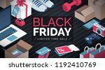 black friday sale shopping... | Shutterstock .eps vector #1192410769