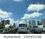 traffic in the city in rush... | Shutterstock . vector #1192411120