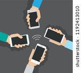 concept of modern communication.... | Shutterstock .eps vector #1192413010