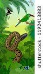 vector jungle rainforest... | Shutterstock .eps vector #1192413883