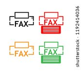 fax vector icon on white... | Shutterstock .eps vector #1192414036