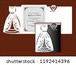 laser cut template of wedding... | Shutterstock .eps vector #1192414396