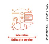 select items concept icon.... | Shutterstock .eps vector #1192417609