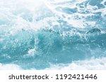 sea  waves in ocean wave... | Shutterstock . vector #1192421446