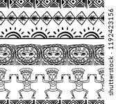 aztec tribal pattern vector...   Shutterstock .eps vector #1192423156