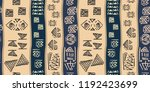 tribal pattern vector with... | Shutterstock .eps vector #1192423699