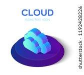 cloud icon. isometric cloud....