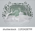 Abstract Background With Deers...