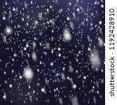 christmas snowfall transparent... | Shutterstock .eps vector #1192428910