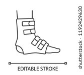 Foot Ankle Brace Linear Icon....