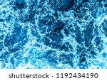 blue deep sea foaming water... | Shutterstock . vector #1192434190