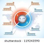 modern two parts business... | Shutterstock .eps vector #119243590
