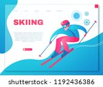 speed skiing. winter sport... | Shutterstock .eps vector #1192436386
