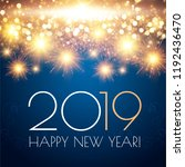 happy hew 2019 year  fileworks  ... | Shutterstock .eps vector #1192436470