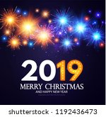 happy hew 2019 year  fileworks  ... | Shutterstock .eps vector #1192436473