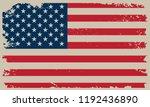 grunge american flag.vector... | Shutterstock .eps vector #1192436890