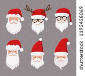 Vector Santa Claus Set Isolated ...