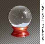 snow globe vector illustration. ...   Shutterstock .eps vector #1192445350
