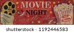 vintage cinema metal sign. | Shutterstock . vector #1192446583