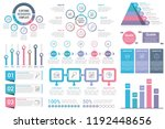 infographic elements   circle...   Shutterstock .eps vector #1192448656