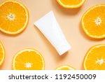 natural vitamin c skincare... | Shutterstock . vector #1192450009