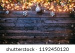 decorative christmas rustic... | Shutterstock . vector #1192450120