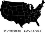 maps united states of america... | Shutterstock .eps vector #1192457086