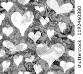 valentine seamless pattern with ... | Shutterstock . vector #1192460380