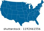 maps united states of america...   Shutterstock .eps vector #1192461556