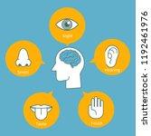 five human senses demonstration ... | Shutterstock .eps vector #1192461976