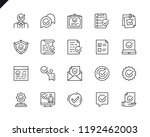 simple set of approve related... | Shutterstock .eps vector #1192462003