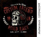 custom motorcycle skull rider | Shutterstock .eps vector #1192462249