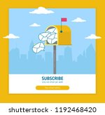 email template subscribe page... | Shutterstock .eps vector #1192468420