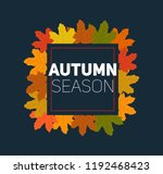 set of autumn leafs with... | Shutterstock .eps vector #1192468423