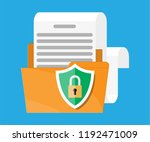 folder with document paper roll ... | Shutterstock .eps vector #1192471009