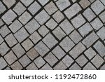 close up of cobble stone ways | Shutterstock . vector #1192472860