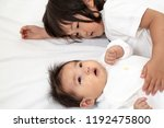 a good friend sister of a young ...   Shutterstock . vector #1192475800