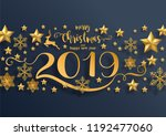 merry christmas greetings and... | Shutterstock .eps vector #1192477060